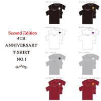 4周年Tシャツ第二弾 × 本日より先行予約開始  × 通販サイトからも予約購入可能です