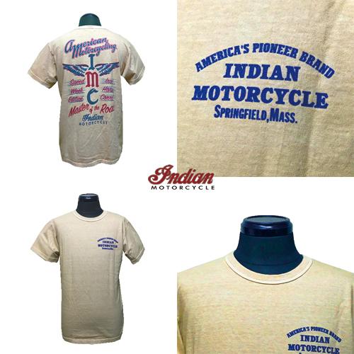 ポルタアンドゲートPORTAANDGATEインディアンモーターサイクル【INDIAN MOTORCYCLE 】IMC DESGIN PRINT S/S T-SHITRS (スカウト&チーフデザインプリントTシャツ)02
