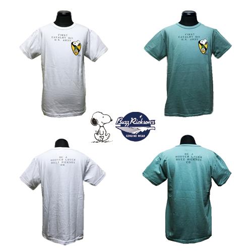 ポルタアンドゲートPORTAANDGATEバズリクソンズ【BUZZRICKSONS 】PEANUTS SNOOPY/1ST CAVALRY DIV PRINTS/S T-SHIRT(ピーナッツスヌーピー半袖Tシャツ)02