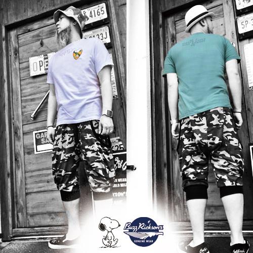 ポルタアンドゲートPORTAANDGATEバズリクソンズ【BUZZRICKSONS 】PEANUTS SNOOPY/1ST CAVALRY DIV PRINTS/S T-SHIRT(ピーナッツスヌーピー半袖Tシャツ)04