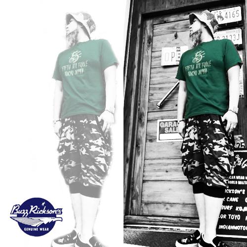 ポルタアンドゲートPORTAANDGATEバズリクソンズ【BUZZRICKSONS 】USARMY/AF FIRTH AIRFORCE PRINT S/S T-SHIRT(アメリカ陸軍航空隊染込半袖Tシャツ)01