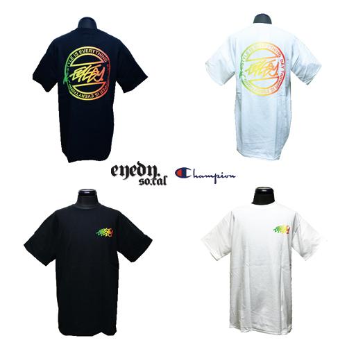 ポルタアンドゲートPORTAANDGATEアイディー/EYEDY/チャンピオン/CHAMPION/CHAMP RASTA CIRCLET PRINT S/S T-SHIRT(チャンプラスタシークレットTシャツ)02