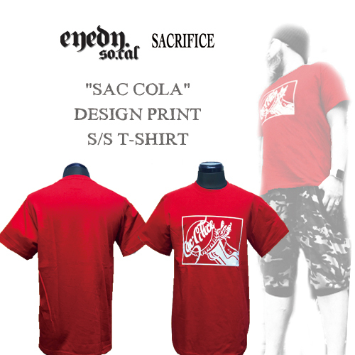 ポルタアンドゲートPORTAANDGATEアイディー/EYEDY/サクリファイス/SACRIFICE/SACCOLA DESIGN PRINT S/S T-SHIRT(サックコーラデザイン半袖Tシャツ)01