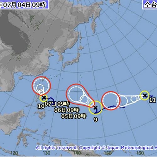 台風9号台風10号台風11号ポルタアンドゲートportaandgate