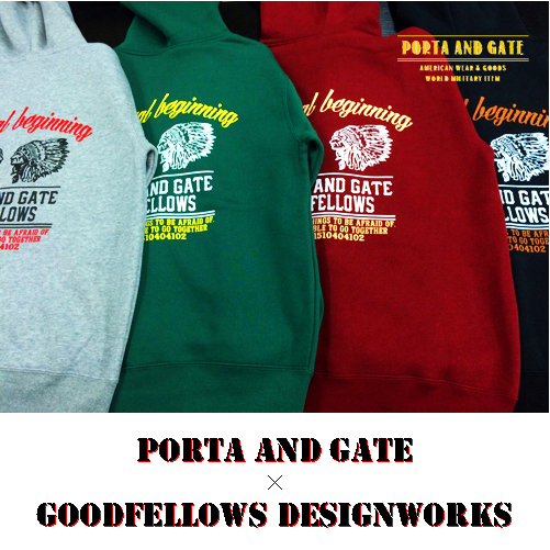 EITS×PORTA AND GAT×GOODFELLOWS DESIGNWORKSコラボパーカーPARKAポルタアンドゲートPORTAANDGATE