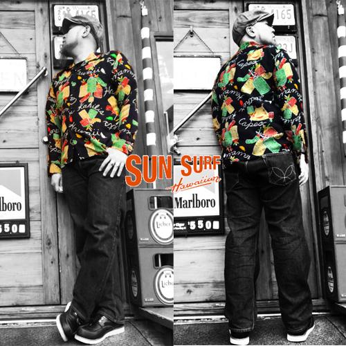 サンサーフ【SUNSURF】RAYON ALOHA SHIRT HAWAIIAN KAHIKLIL/S SHIRTS(レーヨンアロ長袖ハシャツ/ハワイアンカハリ)送料無料04