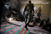 シリア内戦は市街戦が室内画像が多い