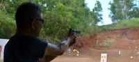 ハンドガンの射撃・・・