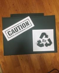 ミリタリー風にゴミ箱を作る