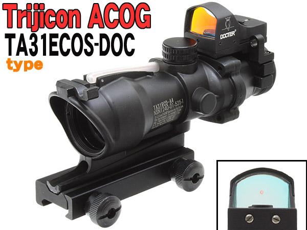 New Trijicon ACOGタイプTA31ECOS 4X32スコープ&Doc Dot (BK)商品画像1