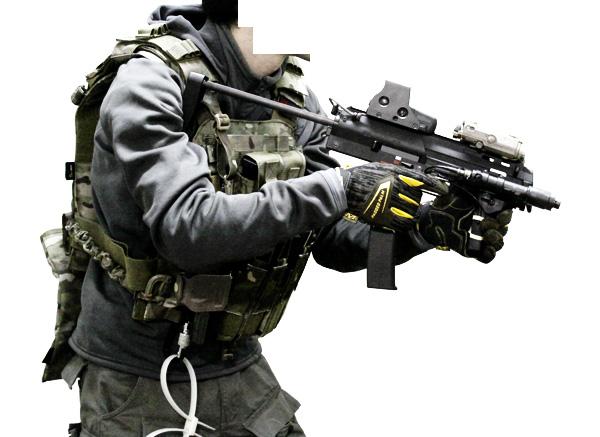 MP7A1用 wilcoxタイプ レイルハンドガード1
