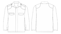 2ポケット作戦服の裁断とカーキ作戦服