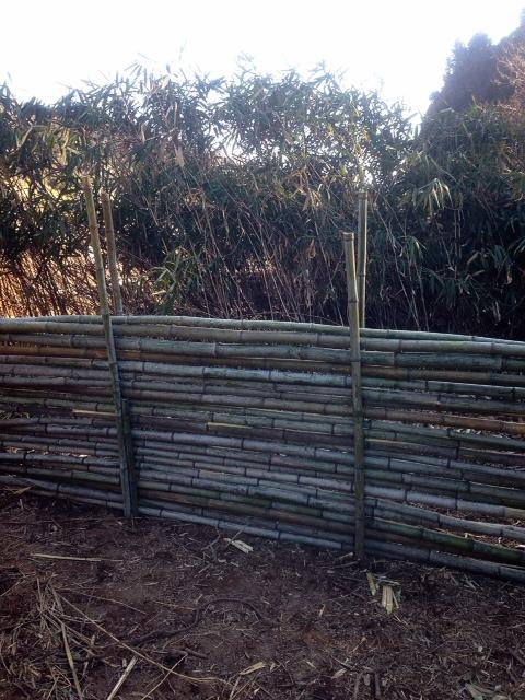 竹バリケード