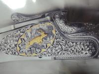 鹿を彫った作品