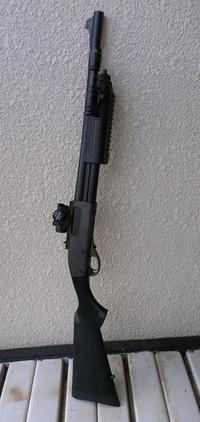 マルイM870に実銃フォアエンドを着けてみた。