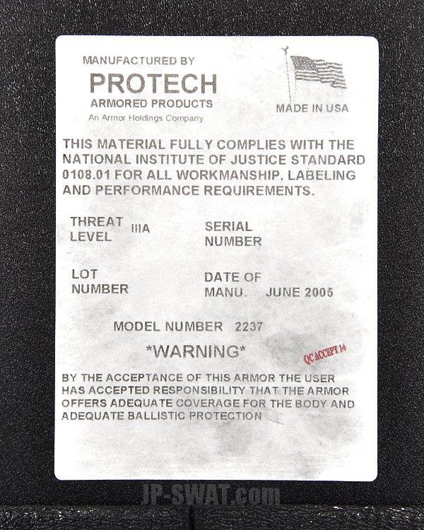 PROTECH社製個人用防弾シールド