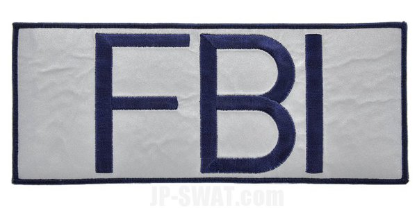 FBI(連邦捜査局) SWAT ベスト用リフレクター・パッチ L