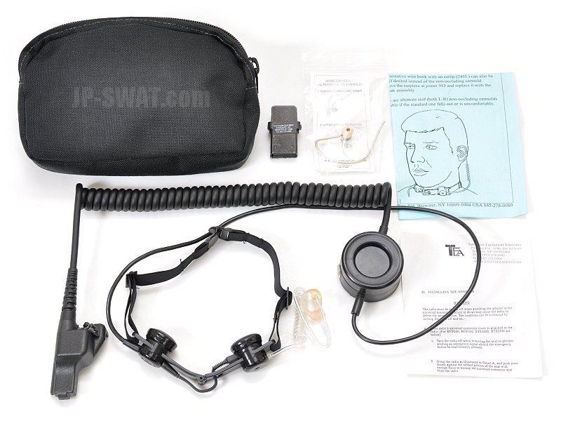 TEA LASH II タクティカル・スロート・マイクロフォン・ヘッドセット