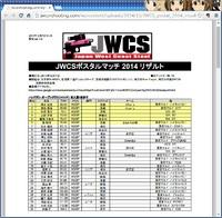 JWCSポスタルマッチ2014リザルト公開