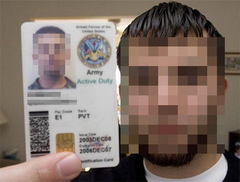 米軍身分証 DD/CAC 参考画像