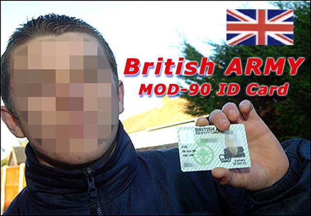 英軍身分証  MOD90 参考画像