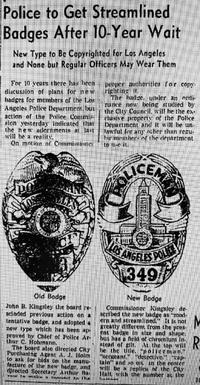 LAPD シリーズ7バッジ!?