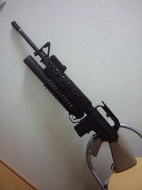 M16A1 with M203のパーツ入れ替え