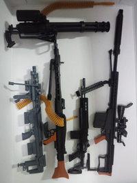 1/6スケール 組立式 武器模型 8種類セット