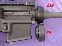 WE M16A3の変なバレルナット