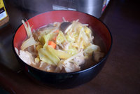 第二弾は..味噌ラーメンと豆腐!?