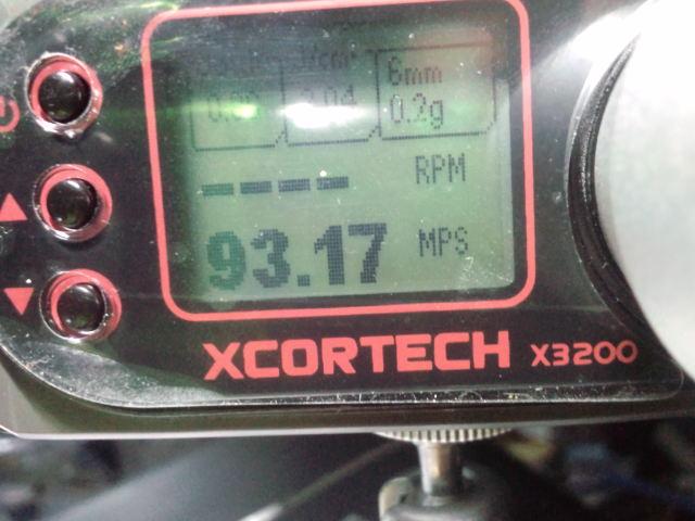 UXR M4 AEG DXVerの初速測定