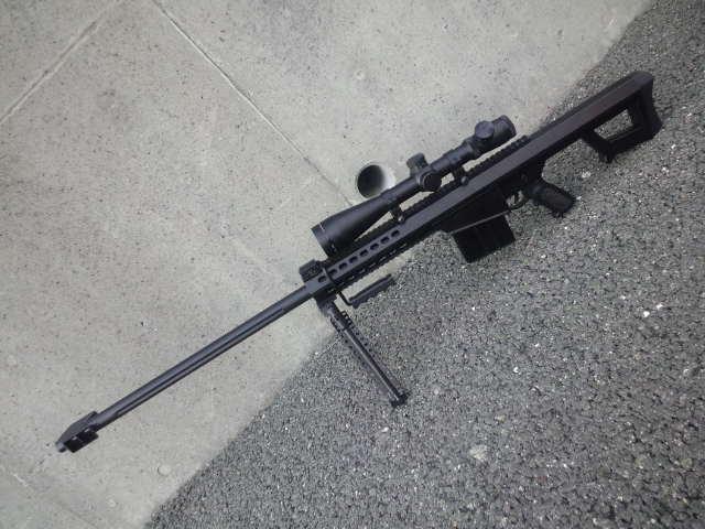 中華エアコキnewバレットM82A1の試射