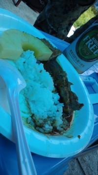昼飯がシャコエビカツパイナップルカレー