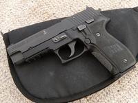 実銃射撃、グリップの簡単な加工。