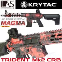 【WEB限定】L.A.S. KRYTAC電動ガン本体 TRIDENT Mk2 CRB <4Dプリントカスタム/マグマ>