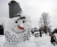 今年も降りました、雪。
