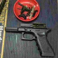 APS airsoft グロック17 Glock17 G17対応 グリップフレーム を組み込んでみた。