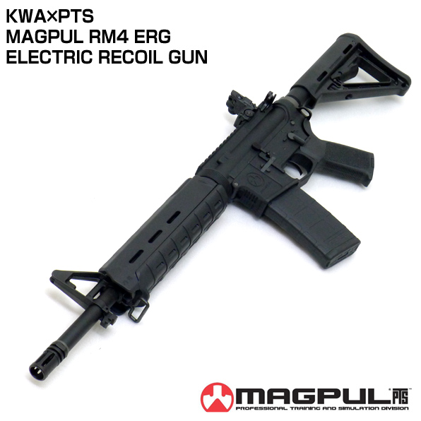 KWA×PTS製 MAGPUL RM4 ERG-SCOUT 電動リコイルエアガン 18歳以上 【電池・充電器別売】<br />