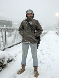 雪で着て試してみた
