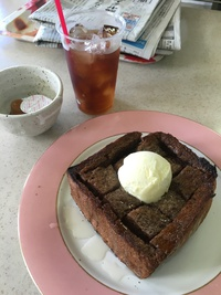 富士学校のカフェでランチ