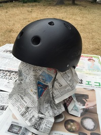 Old schoolなカスタムヘルメットを作る その3