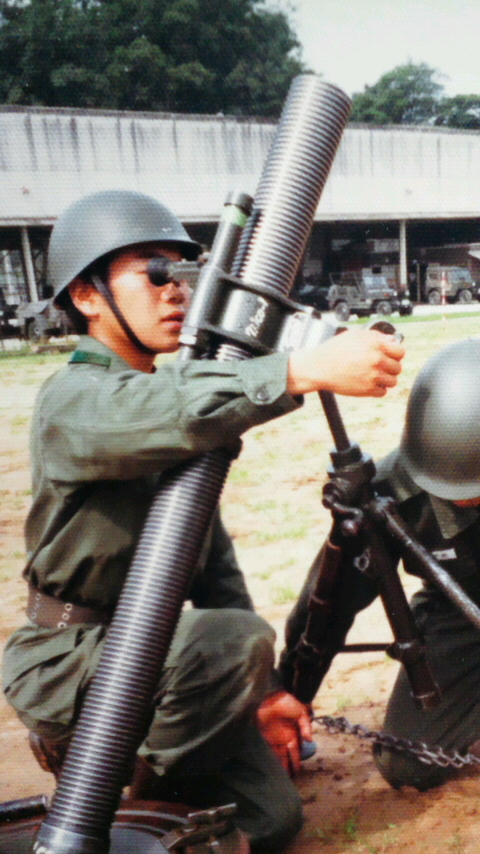 豊和工業 64式81mm迫撃砲 第3混成団(橋本大尉ブログ):豊和工業