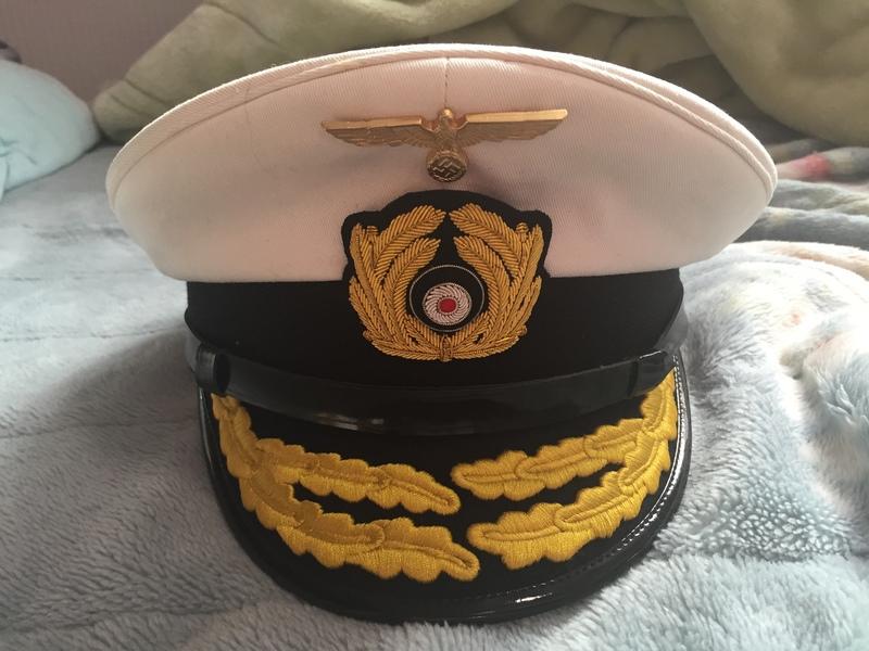 提督用制帽ホワイトトップ