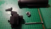 89式折曲銃床用 M4ストックアダプターの取り付け方法