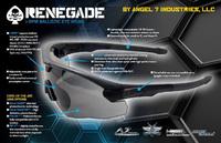 Angel 7 Industries の調光レンズ「Ghost Shield」を使ったタクティカルアイウェア