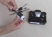 プロポと合体してデジカメに変身する、手の平サイズの RC ヘリコプターが新発売