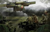 DARPA、前線部隊への補給・負傷者後送を目的とした VTOL 式 UAV のコンセプト イラストを公表