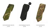 国のために命を懸けて戦った兵士に敬意を込めた E&A のマルチカム柄ネクタイ
