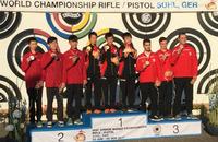 国際射撃連盟・ジュニア世界選手権の男子10mエアライフル団体で日本チームが「世界新記録」で優勝