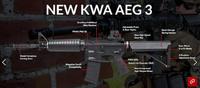 KWAの新型電動ガン「AEG3 RM4A1」が間もなく発売開始